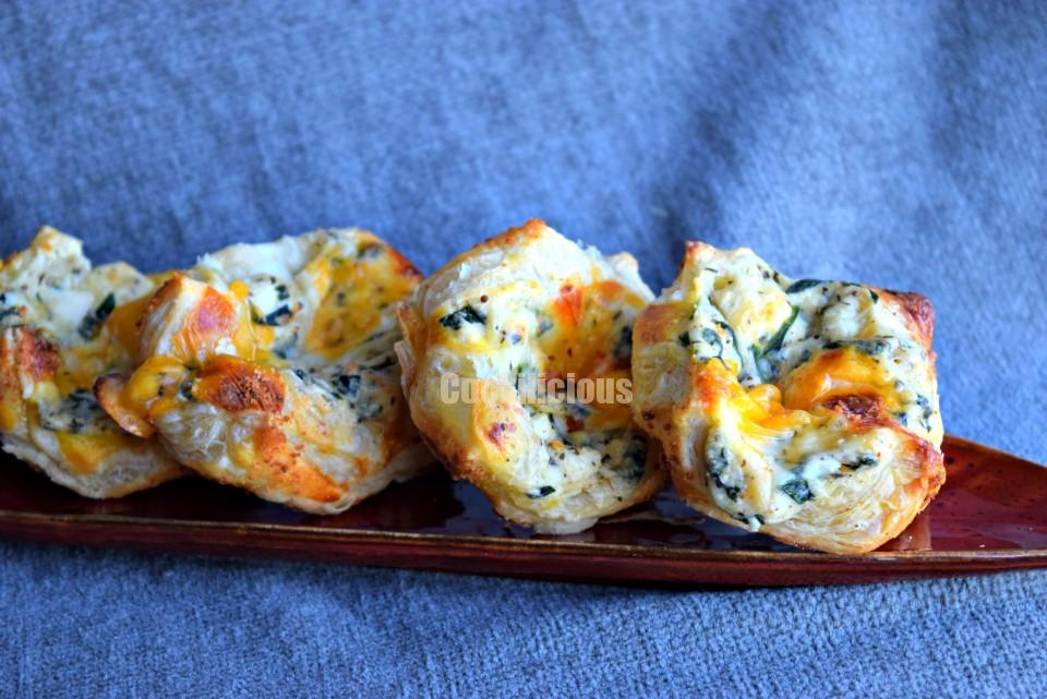 Spinach & Paneer PuffsAppetizers & Snacks