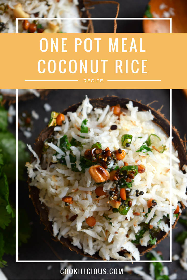 Indian Coconut Rice - One pot MealSouth Indian