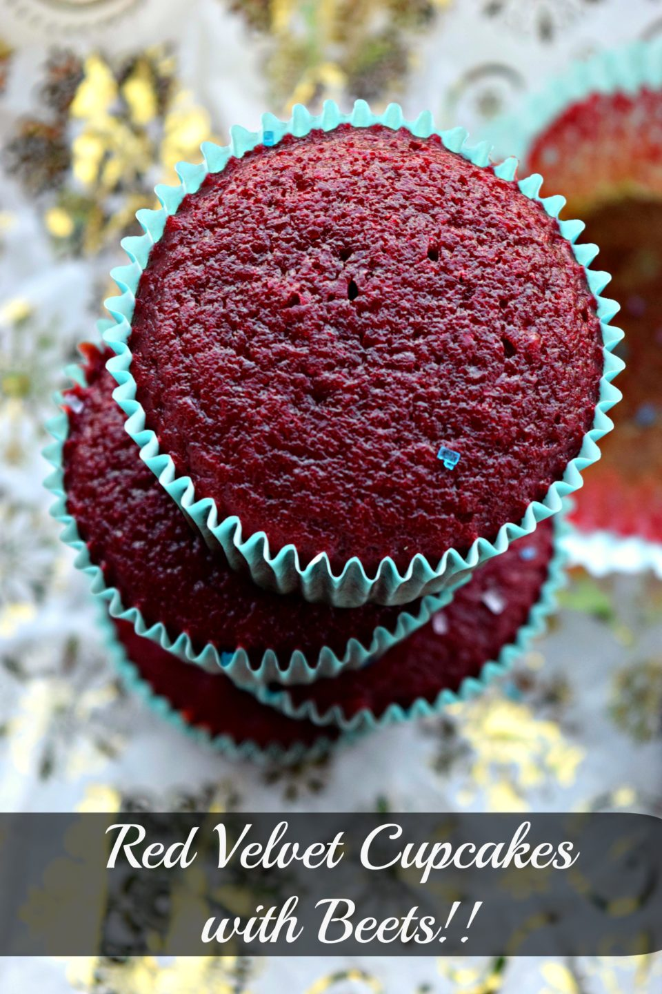 Eggless Red Velvet Cupcakes with BeetsDesserts