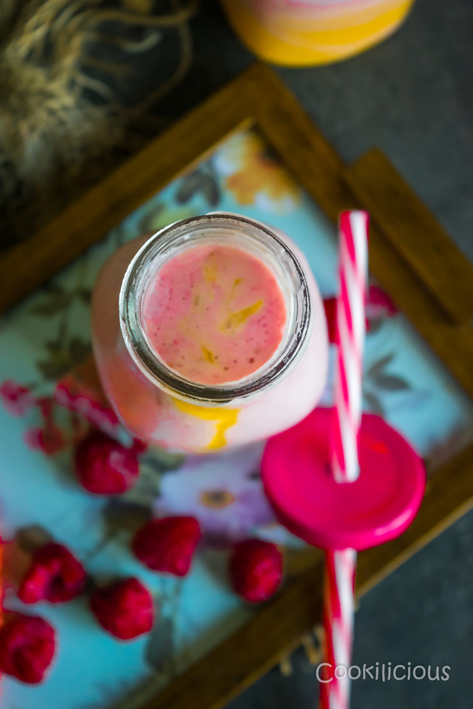 Raspberry Mango Sunrise SmoothieDrinks Power Breakfasts