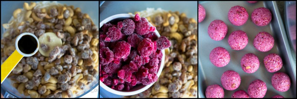 Vegan No Bake Raspberry Energy BitesAppetizers & Snacks Power Breakfasts