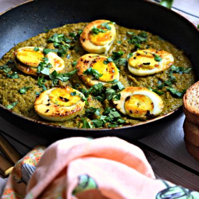Kolhapuri Green Masala Egg Curry – Spicy and Fiery