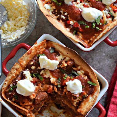 Rajma/Kidney Beans Enchilada Mini CasseroleInternational Cuisine