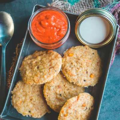 Instant Sweet Potato & Quinoa Idli/Steamed Cakes