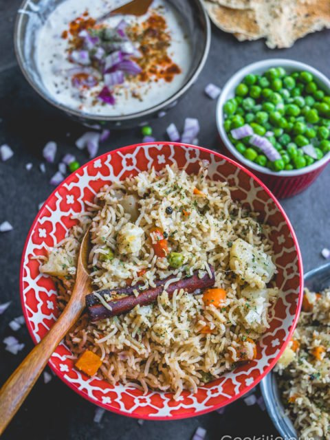 Simple & Easy Vegan Vegetable Pulao in an Instant Pot