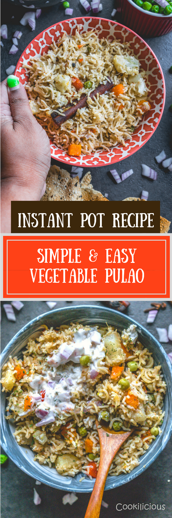 Simple & Easy Vegan Vegetable Pulao in an Instant PotFlavors Of Rice