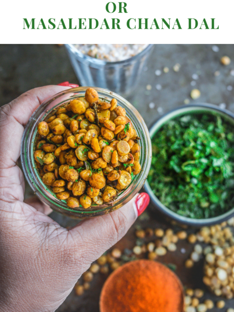 Crispy Vegan Split Peas | Masaledar Chana DalAppetizers & Snacks