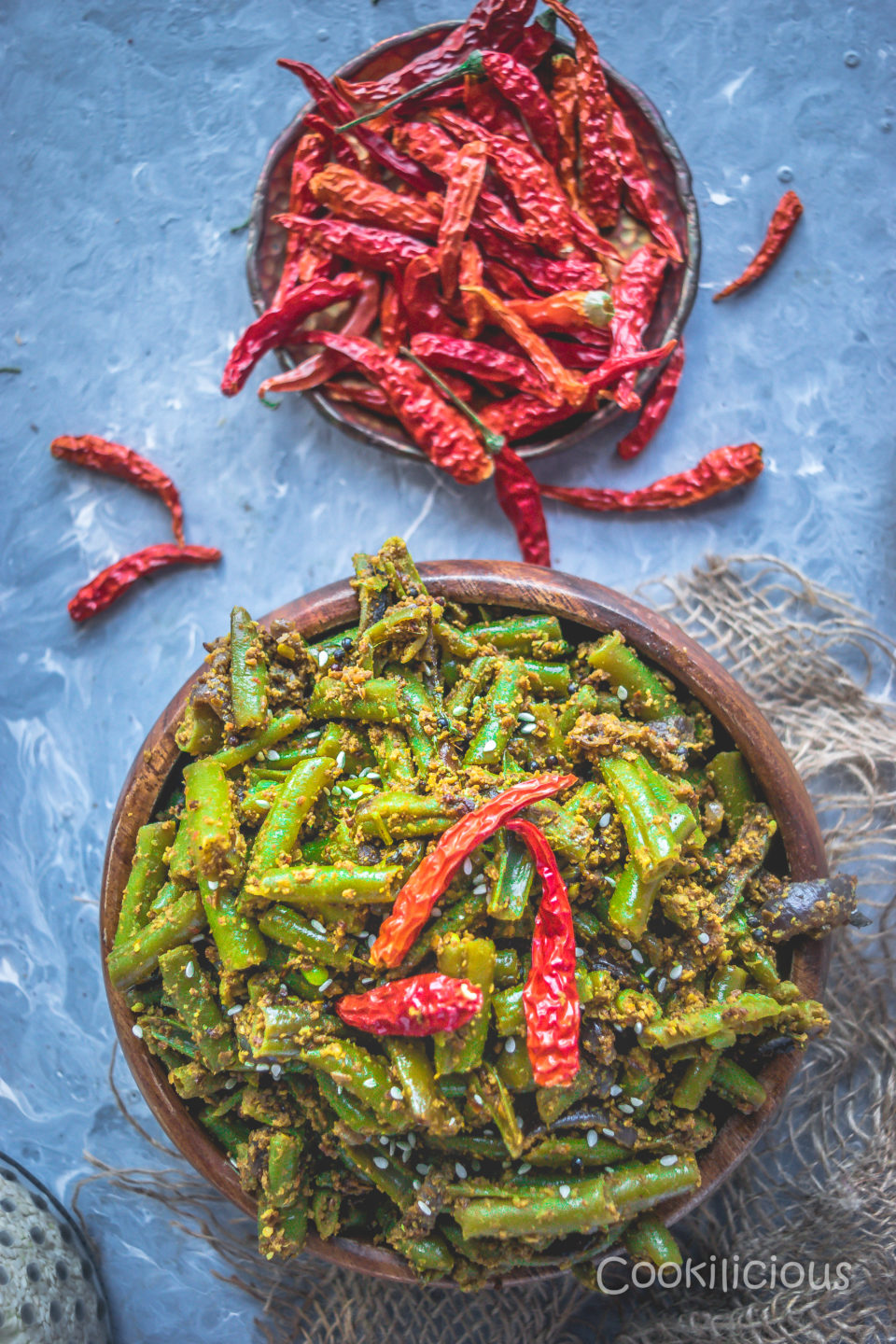 Vegan Sesame Flavored Green Beans Stir FryCurries & Gravies