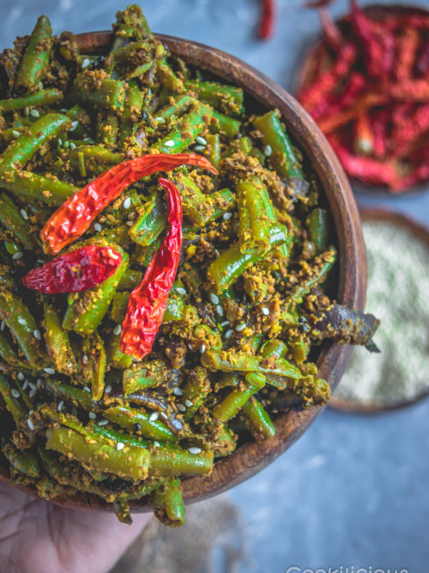 Vegan Sesame Flavored Green Beans Stir Fry
