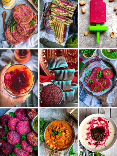 collage of beet recipes for fall season