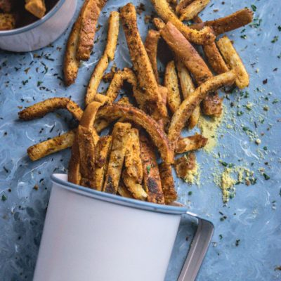 Crispy Bread Crust Parmesan Baked Fries