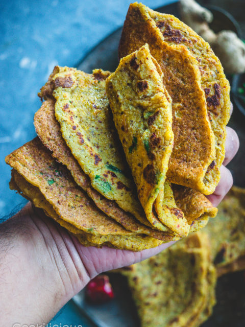 Spicy Quinoa & Red Pumpkin Adai | Lentil Dosa