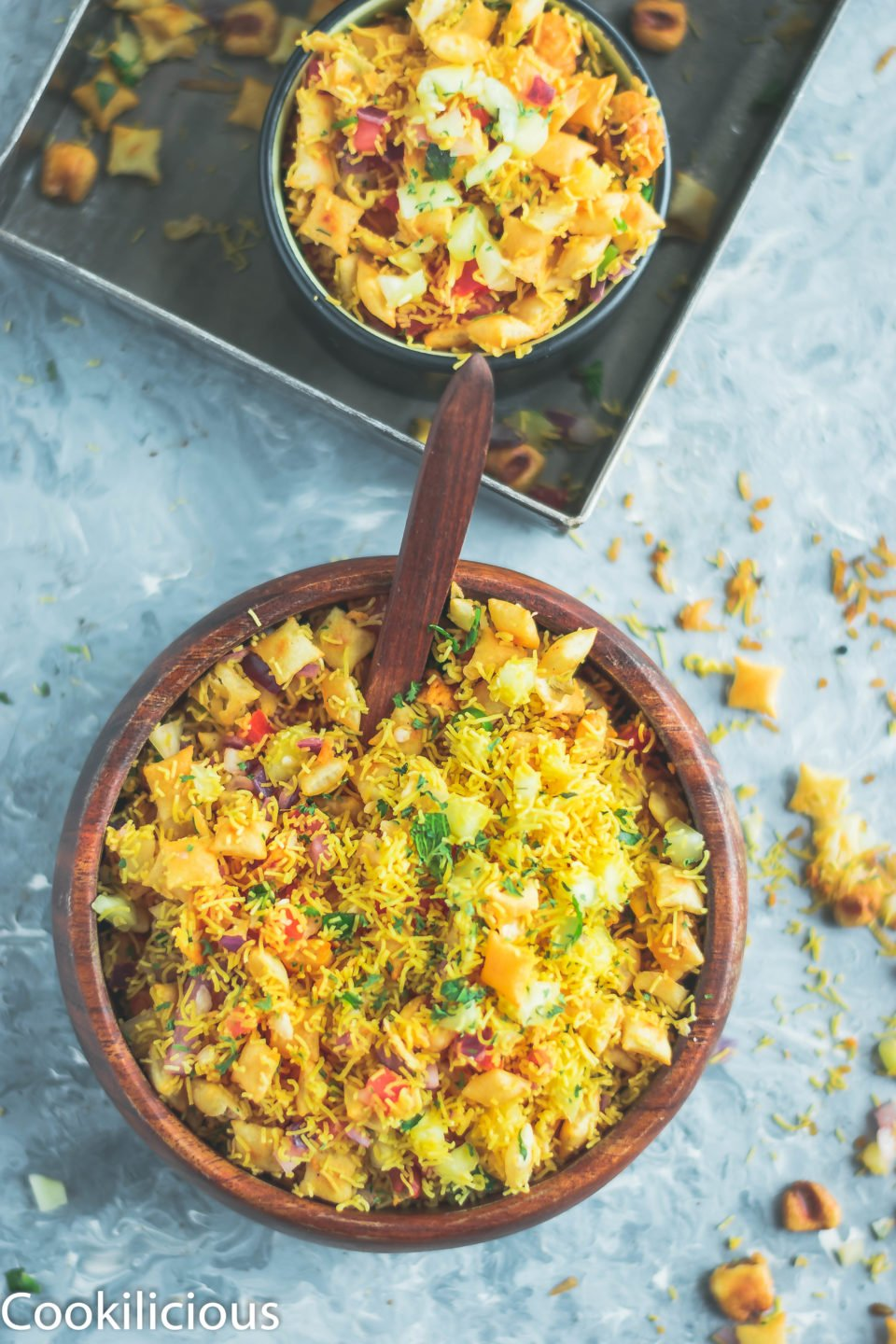 Crispy & Masaledar Cheeselings Bhel - No Cook Recipe!Appetizers & Snacks