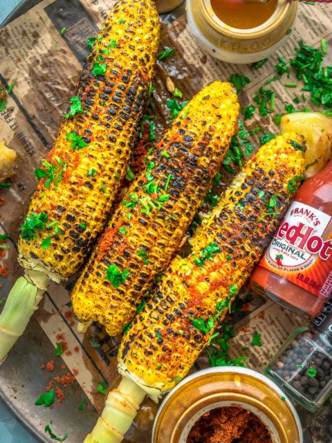 Indian Street Style Corn-On-The-Cob   Masala BhuttaAppetizers & Snacks