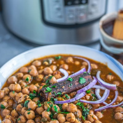 Instant Pot Chickpeas & Spinach Masala | Chana PalakCurries & Gravies