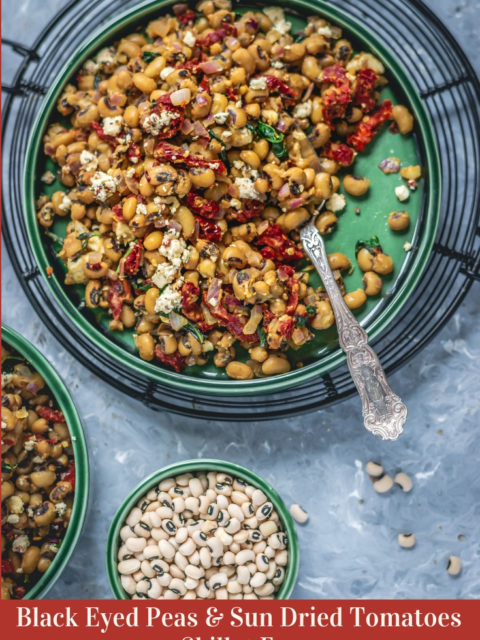 Black Eyed Peas & Sun Dried Tomatoes Skillet FryAppetizers & Snacks Curries & Gravies