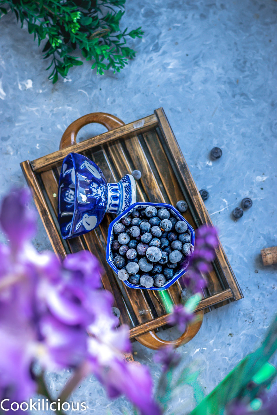 Healthy Blueberry Masala Soda Ice Pops For Summers!Desserts