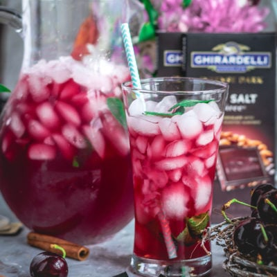 Cherry Lemon Iced Tea With Ghirardelli Intense Dark Chocolate