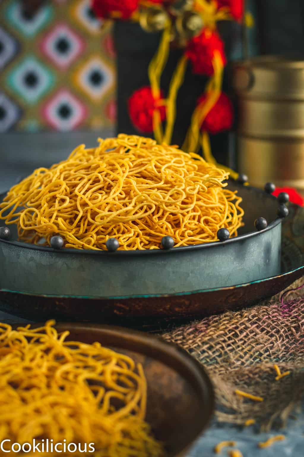 Indian sev served in a platter