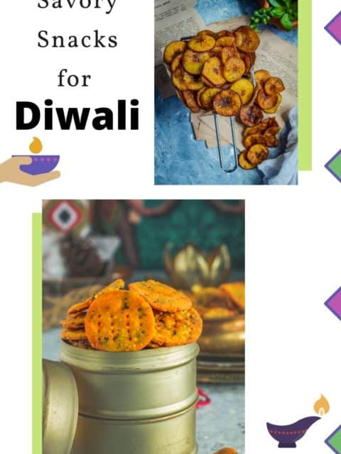collage o two snacks with text on the left