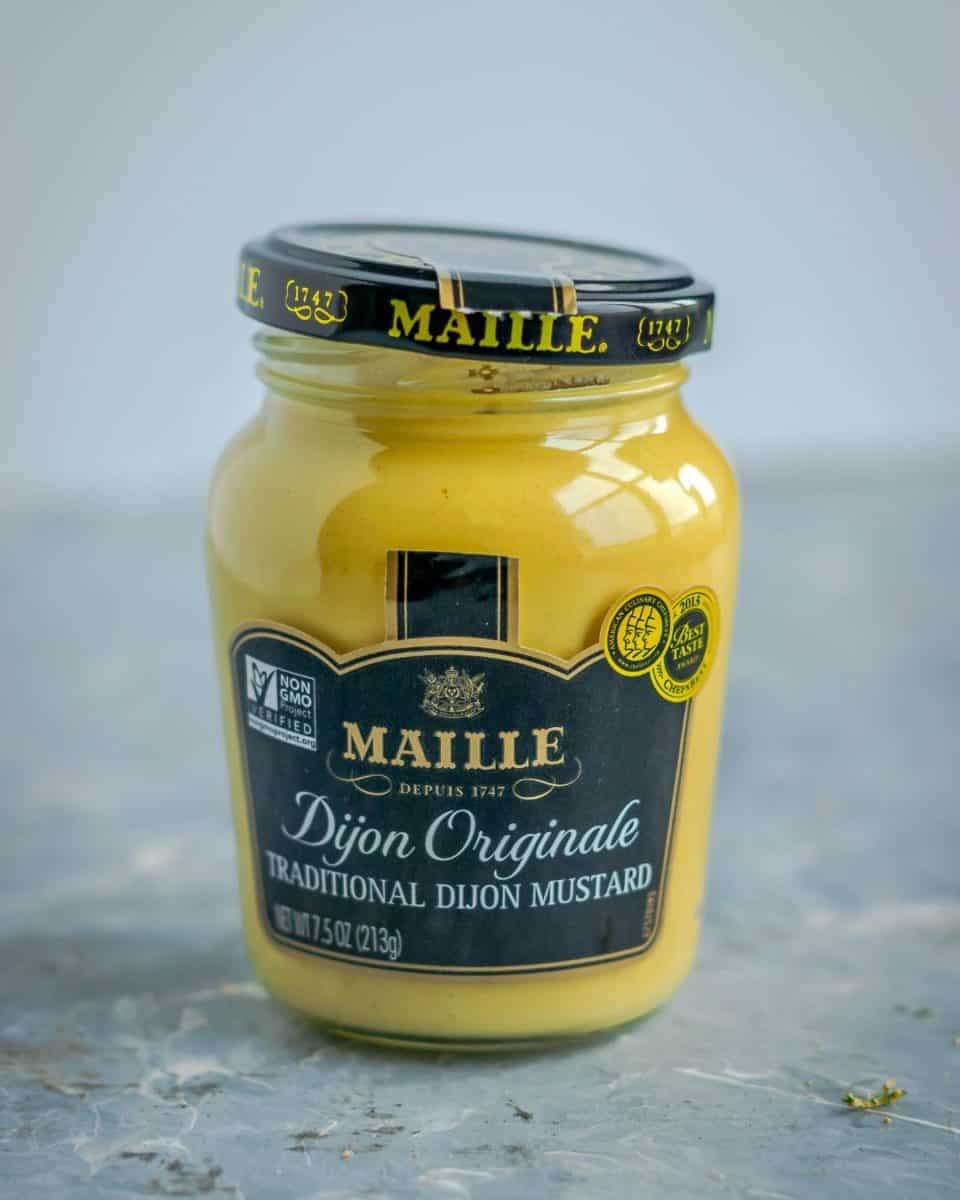 a jar of Maille Mustard