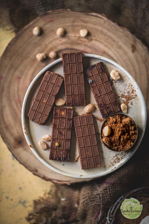 5 mini Vegan Chocolate Macadamia Bars served in a plate