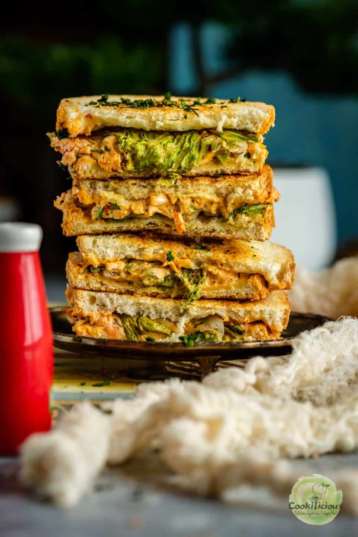 Veggie Sandwich stack