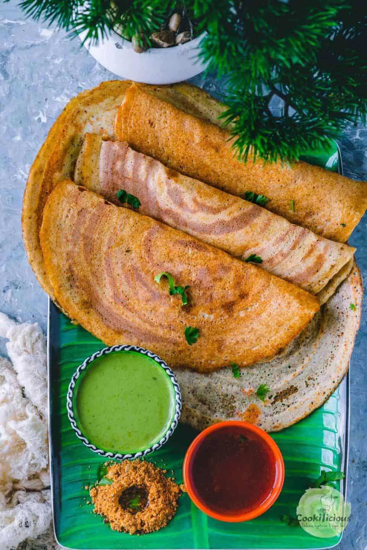 3 Quinoa Dosa folded in half